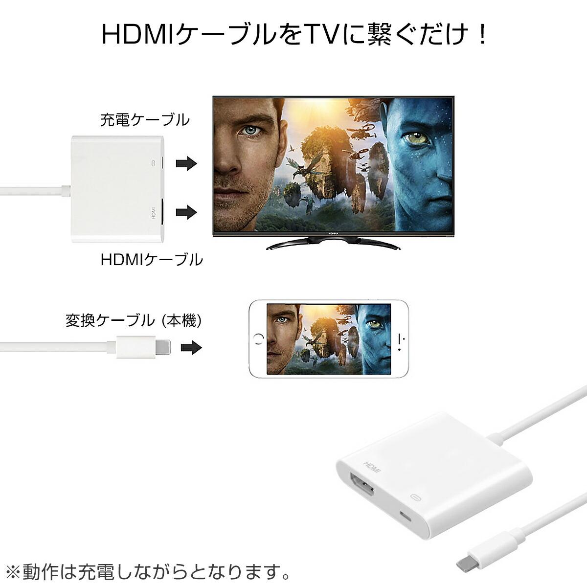 ライトニングHDMI変換ケーブル