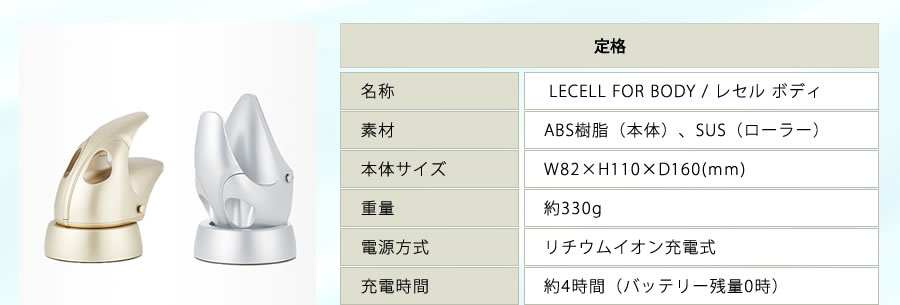 lecell for body 仕様