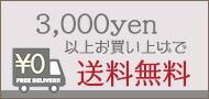 3000円以上で送料無料!