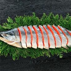 【熟成紅鮭】姿切身・半尾