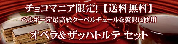 バースデーケーキ チョコレートケーキ 通販 オペラ&ザッハ フルセット