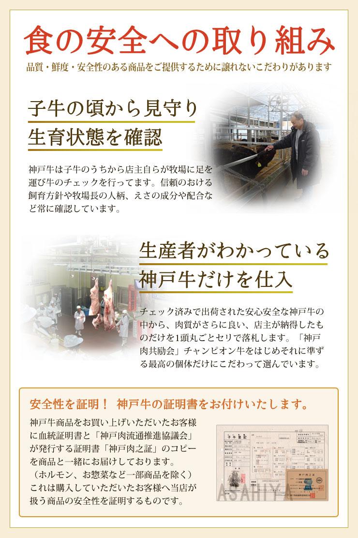 神戸牛の安全性について