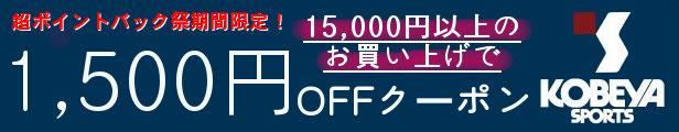超ポイントバック祭期間限定1,500円OFFクーポン