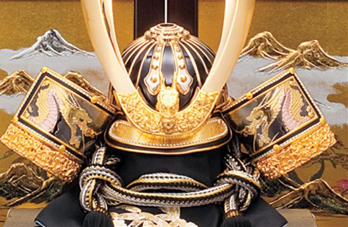 五月人形 五月節句飾り 東旭監製 兜飾り 彫金竜ゴールド兜飾り 25号画像2