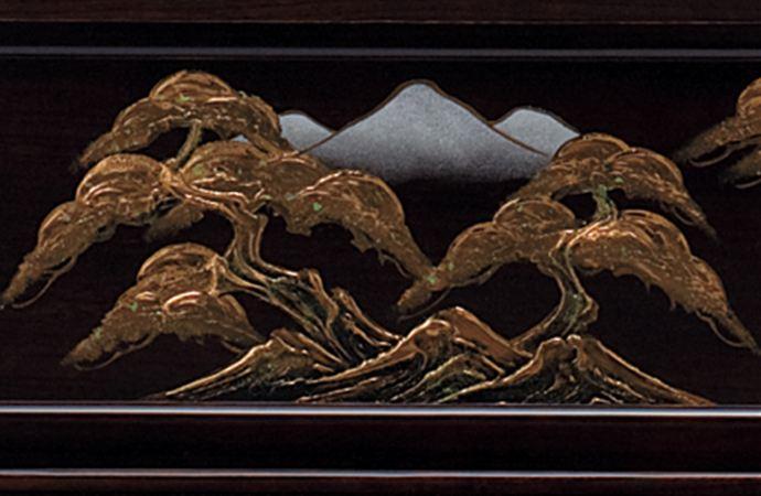 五月人形 五月節句飾り 東旭監製 兜飾り 彫金竜ゴールド兜飾り 25号画像4