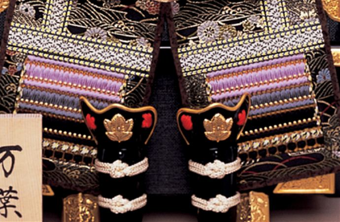 五月人形 甲冑飾り 東旭監製 鎧飾り 大鎧 万葉鎧飾り 7号(極細小札仕様)画像4