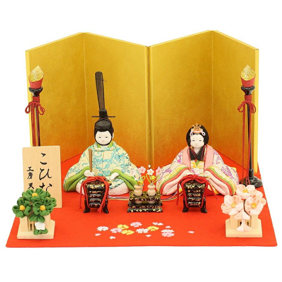 こひな こがね桜シリーズ 京都西陣裂地(金襴織物)