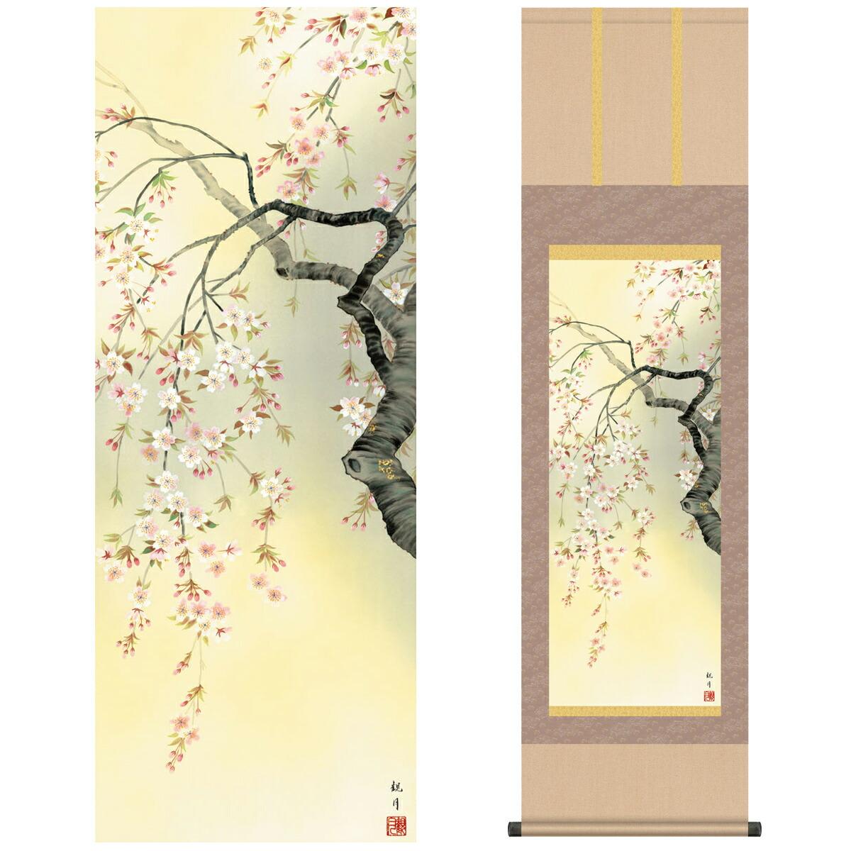 花鳥掛軸 四季花鳥 四季趣彩 春 桜花爛漫