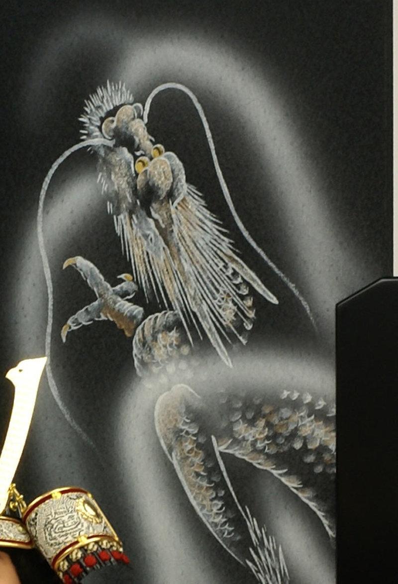 五月人形 五月節句飾り 平飾り 武者人形 子供大将 (鎧姿) 人形工房天祥オリジナル 五月人形・健ちゃんシリーズ 「健 (鎧着・萌黄)」 (正絹糸縅仕立)画像10