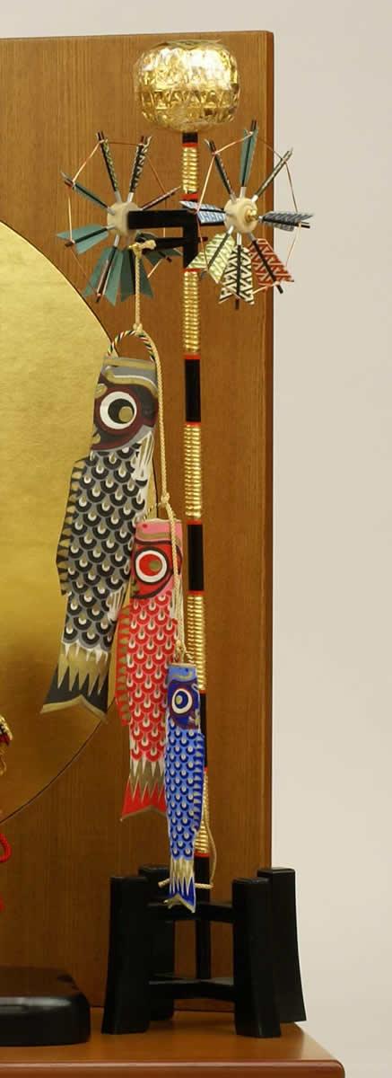 五月人形 五月節句飾り 平飾り 武者人形 子供大将 (鎧姿) 人形工房天祥オリジナル 五月人形・健ちゃんシリーズ 「健 (鎧着・赤糸縅)」 (正絹糸縅仕立)(コイノボリ飾り付)画像10