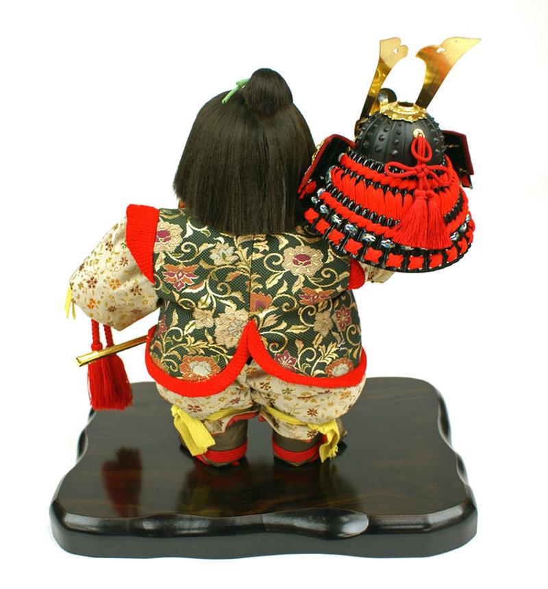 五月人形 五月節句飾り 平飾り 武者人形 子供大将 (陣羽織姿) 人形工房天祥オリジナル 五月人形・健ちゃんシリーズ 「健 (陣羽織・立姿)」 (正絹糸縅仕立)(のぼり飾り付)画像6