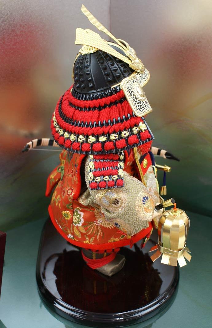 五月人形 五月節句飾り 平飾り 武者人形 子供大将 (陣羽織姿) 人形工房天祥オリジナル 五月人形・健ちゃんシリーズ 「ミニ健 (陣羽織・立姿)」 (正絹糸縅仕立)(コイノボリ飾り付)画像6