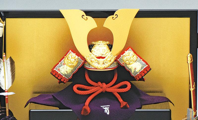 五月人形 兜 兜飾り 名匠 加藤一冑作(有名甲冑師・伝統工芸士)甲冑飾り お節句飾り 端午の節句 初節句 兜 「一冑作 三分の一 菊一文字兜飾りセット」画像2