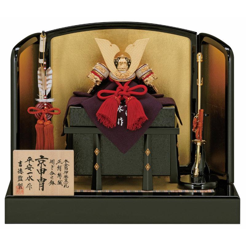 京甲冑シリーズ-平安一水作-兜8号床飾り