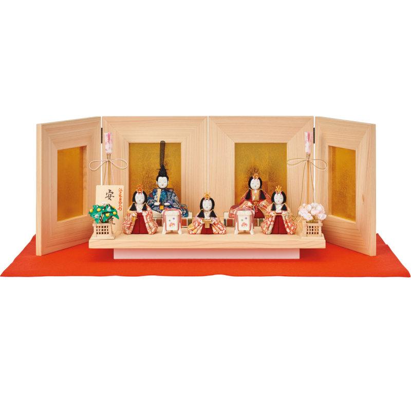 五人飾「安土雛」(三人官女付)