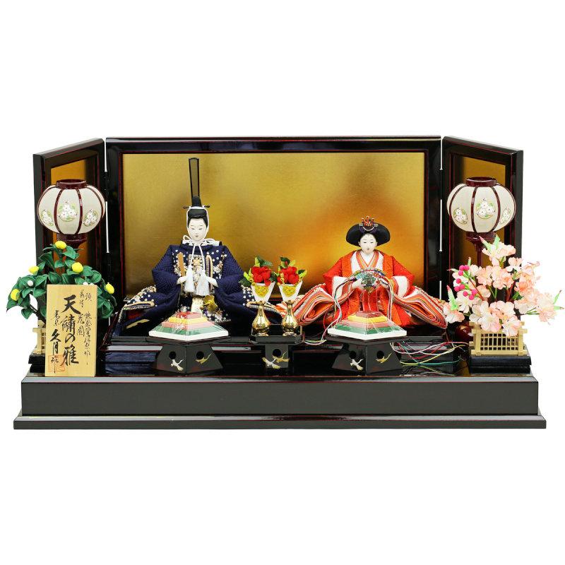 久月×人形工房天祥 コラボ限定オリジナルひな人形 「久月 ひな人形 雛人形 親王飾り・天繍の雅 十二単姿雛」
