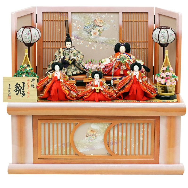 雛 三五親王官女飾り(収納タイプ)