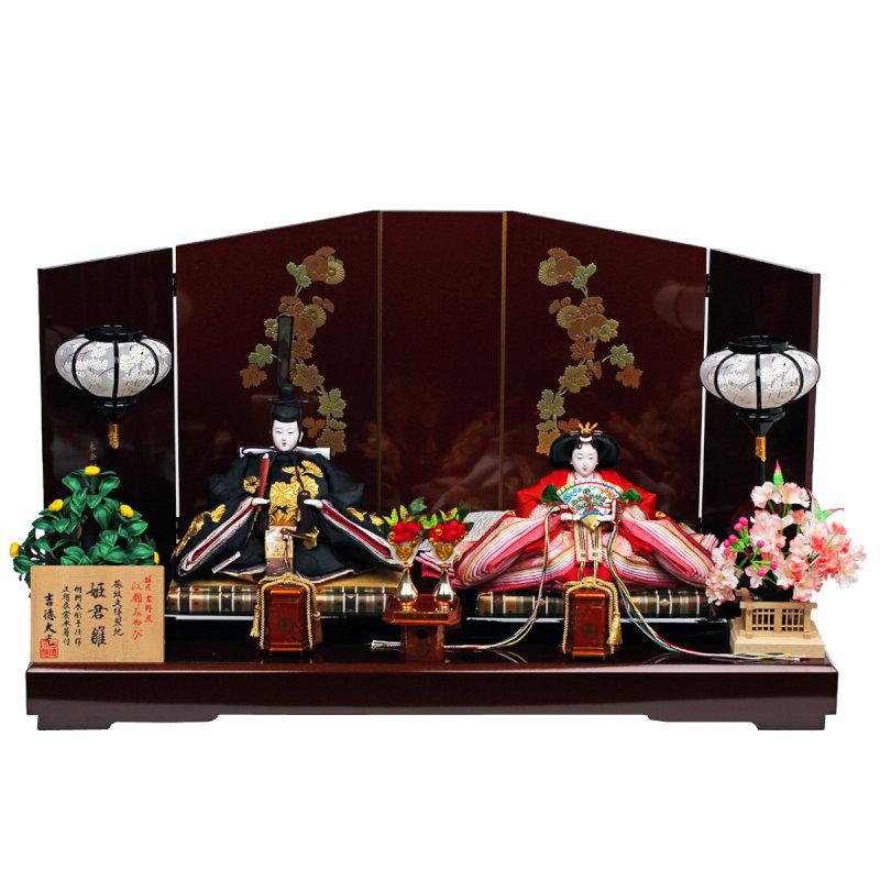 吉徳大光×人形工房天祥 コラボ限定オリジナルひな人形 「吉徳 ひな人形 雛人形 親王飾り 江都みやび 姫君雛」