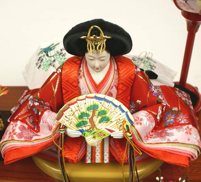 雛人形 ケース飾り 親王飾り 十二単 衣装着雛人形 人形工房天祥オリジナル 衣装着ひな人形 (ケース入・二人飾り)画像4