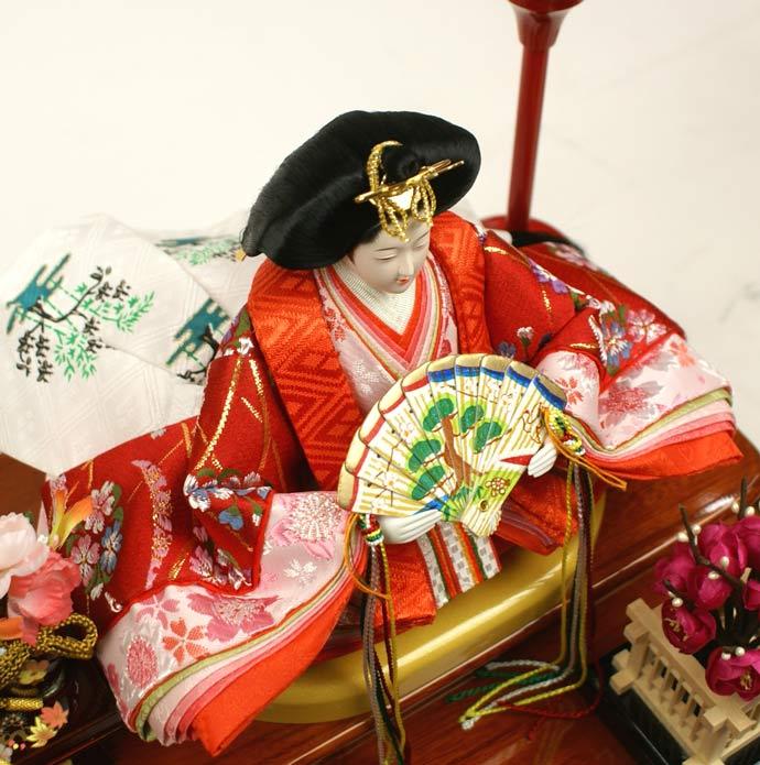 雛人形 ケース飾り 親王飾り 十二単 衣装着雛人形 人形工房天祥オリジナル 衣装着ひな人形 (ケース入・二人飾り)画像5