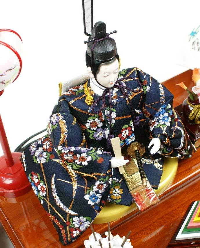 雛人形 ケース飾り 親王飾り 十二単 衣装着雛人形 人形工房天祥オリジナル 衣装着ひな人形 (ケース入・二人飾り)画像8