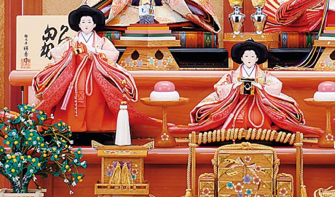 雛人形 十二単 衣装着雛人形 祥秀作 三段飾り 雛 十番親王三五官女 (三人官女付)画像10