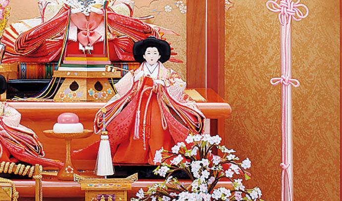 雛人形 十二単 衣装着雛人形 祥秀作 三段飾り 雛 十番親王三五官女 (三人官女付)画像11