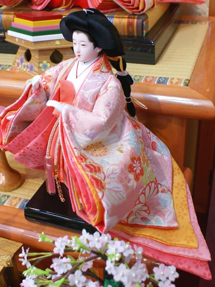 雛人形 十二単 衣装着雛人形 祥秀作 三段飾り 雛 十番親王三五官女 (三人官女付)画像13