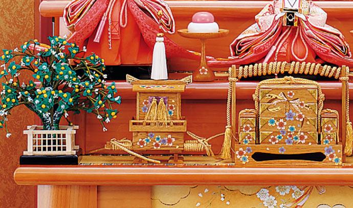 雛人形 十二単 衣装着雛人形 祥秀作 三段飾り 雛 十番親王三五官女 (三人官女付)画像14
