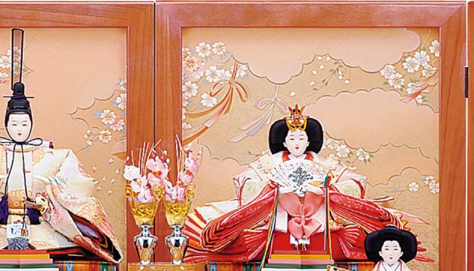 雛人形 十二単 衣装着雛人形 祥秀作 三段飾り 雛 十番親王三五官女 (三人官女付)画像16