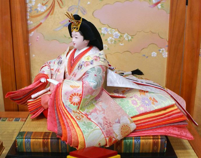 雛人形 十二単 衣装着雛人形 祥秀作 三段飾り 雛 十番親王三五官女 (三人官女付)画像4