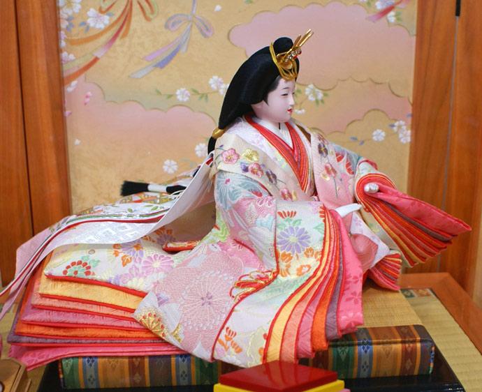 雛人形 十二単 衣装着雛人形 祥秀作 三段飾り 雛 十番親王三五官女 (三人官女付)画像5