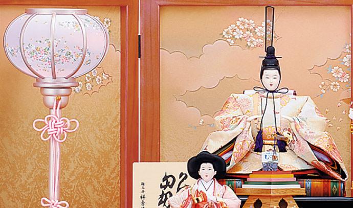 雛人形 十二単 衣装着雛人形 祥秀作 三段飾り 雛 十番親王三五官女 (三人官女付)画像6
