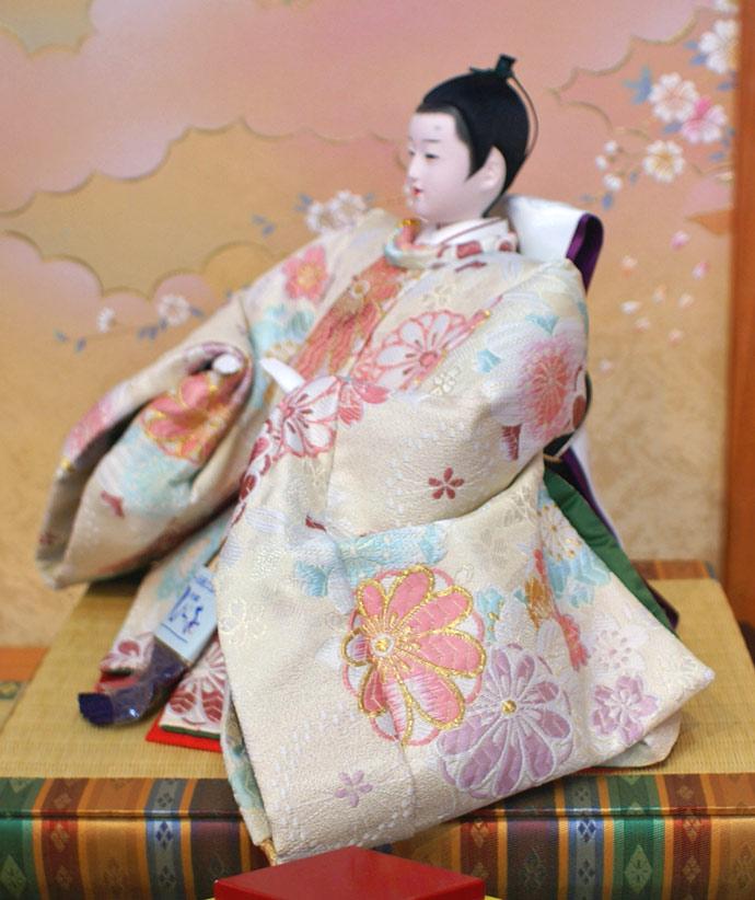 雛人形 十二単 衣装着雛人形 祥秀作 三段飾り 雛 十番親王三五官女 (三人官女付)画像8