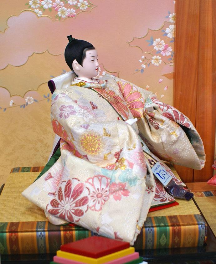 雛人形 十二単 衣装着雛人形 祥秀作 三段飾り 雛 十番親王三五官女 (三人官女付)画像9
