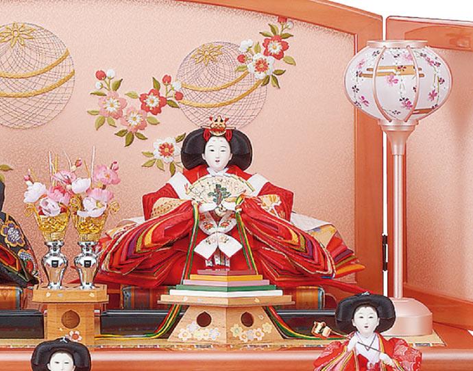 雛人形 十二単 衣装着雛人形 祥秀作 三段飾り 雛 三五親王芥子官女 (三人官女付)画像2