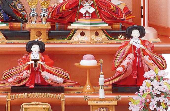 雛人形 十二単 衣装着雛人形 祥秀作 三段飾り 雛 三五親王芥子官女 (三人官女付)画像5