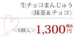 生チョコまんじゅう<抹茶&チョコ>1300円