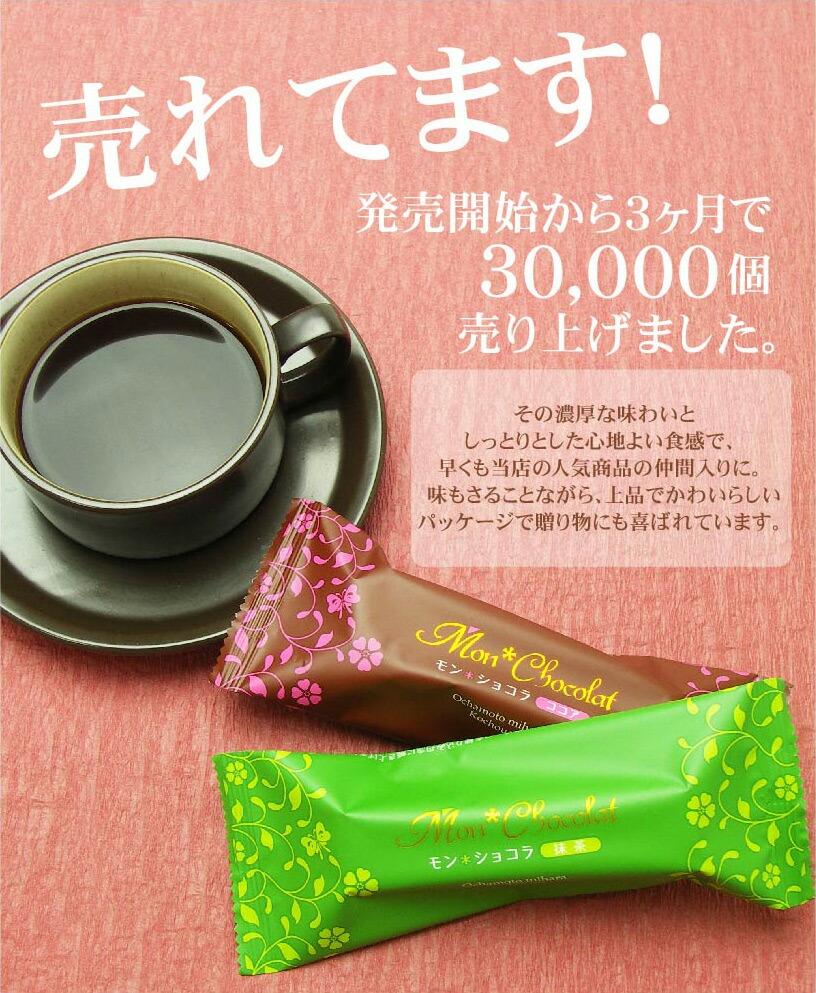 抹茶とココアのチョコレートケーキ モンショコラ