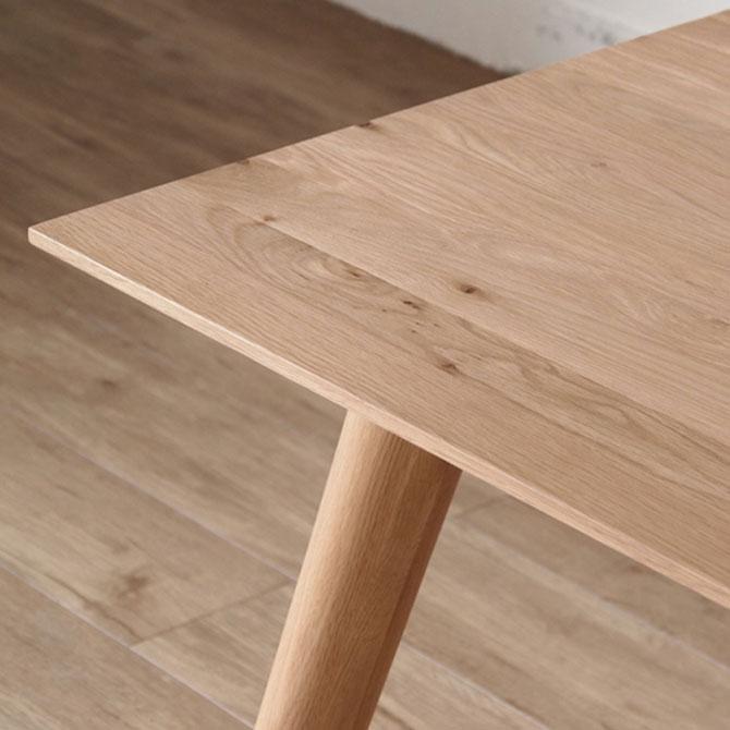 天然オーク無垢材 ダイニングテーブル 180cm幅 L2T380NA