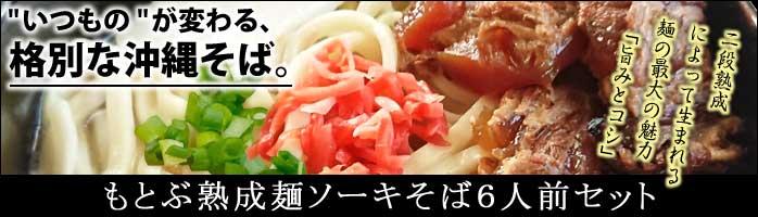 もとぶ熟成麺ラフティ&ソーキそばセット