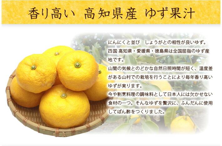 香り高い 高知県産 ゆず果汁