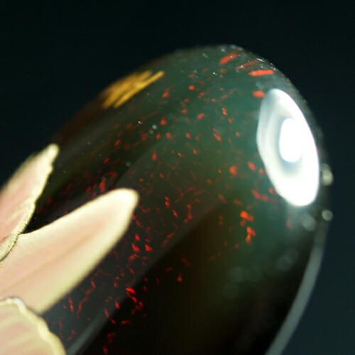 琥珀ペンダント レインボーアンバー 蒔絵 オパール カトレア 花 フラワー 虹色琥珀 レッドアンバー 赤琥珀 メキシコ産 天然石 パワーストーン