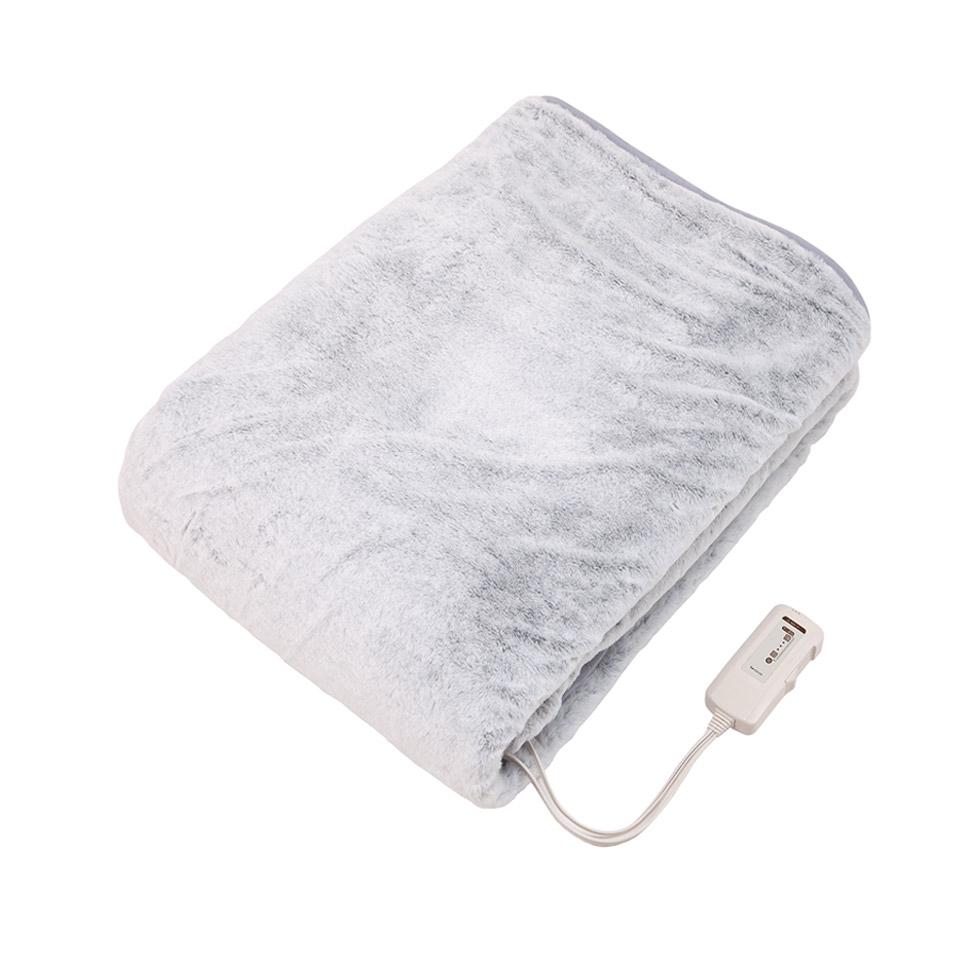 ラビットファー電気掛敷毛布