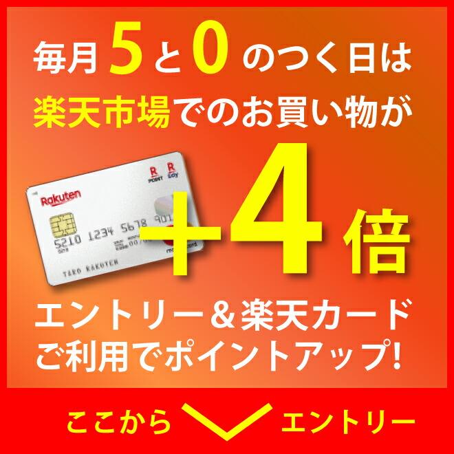 8/25は、5と0のつく日 エントリー&楽天カード利用でポイント+4倍