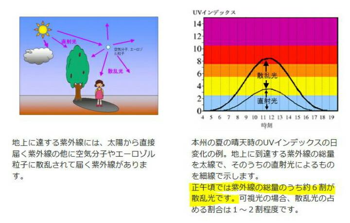 散乱光による紫外線