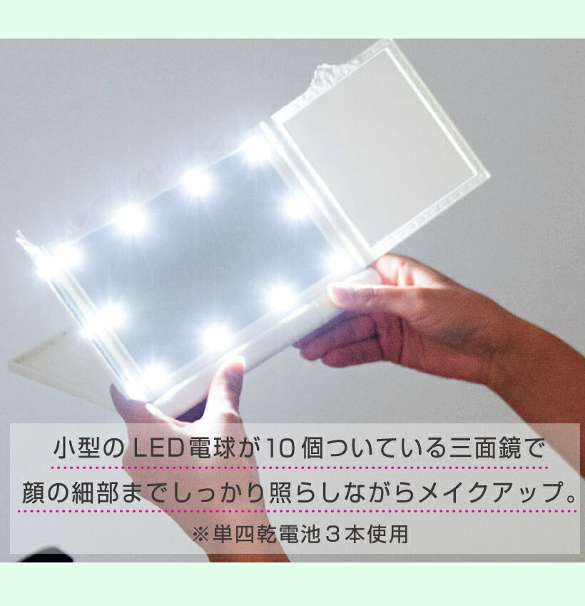 小型のLED電球が10個
