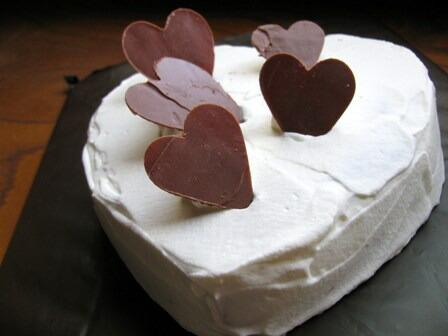 米粉で作るハートのケーキ