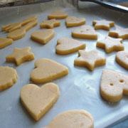 クッキー専用米粉で作るクッキー 天板に並べる