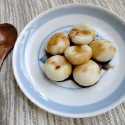 もち粉または白玉粉で作る豆腐白玉 出来上がり